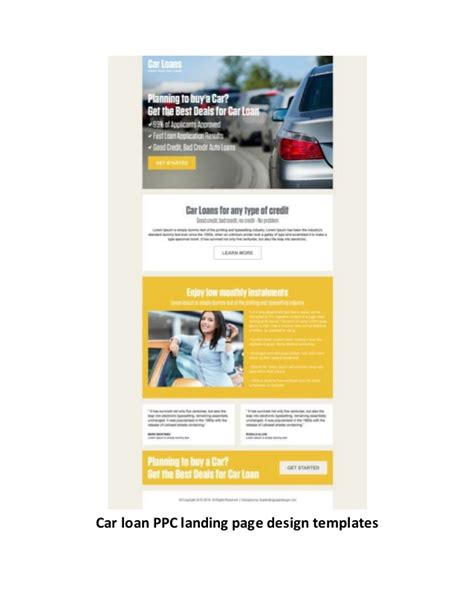 ppc landing page template pay per click landing page design templates exles for