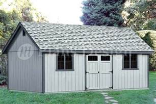 16 X 24 Shed Plans by 16 X 24 Gable Backyard Storage Shed Plans