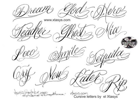 tattoo fonts names cursive 25 unique cursive tattoo letters ideas on pinterest