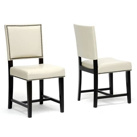 White Faux Leather Dining Chairs Decor Ideasdecor Ideas Faux Leather Dining Chairs