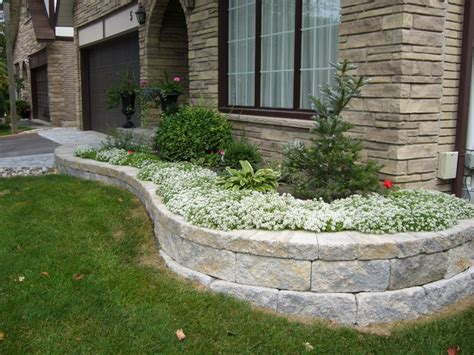 Front Garden Wall Ideas Paver Patios Front Yard Landscaping With Retaining Wall Ideas Front Yard Landscaping By