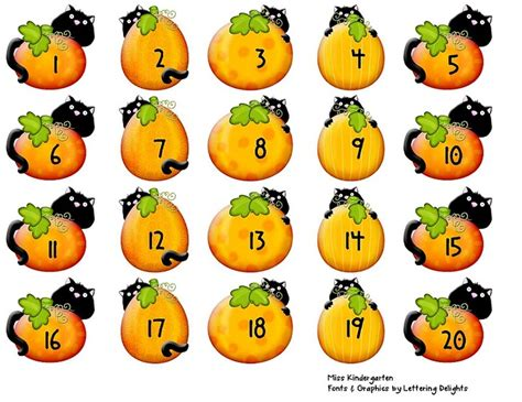 printable pumpkin numbers 17 best images about kindergarten numbers 1 10 on