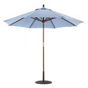 Wood Patio Umbrellas Galtech 9 Wood Market Umbrella With Pulley Lift