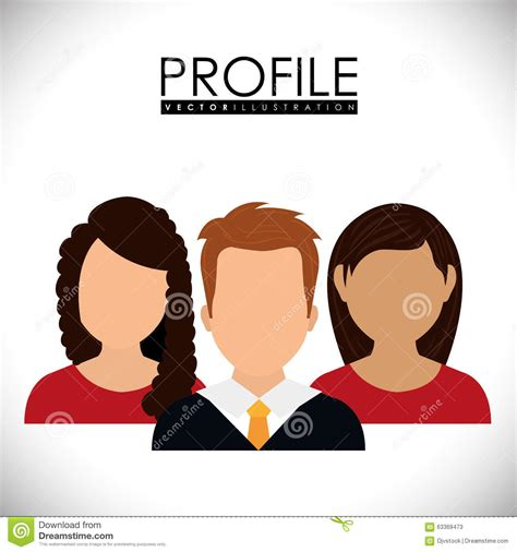 profile graphic stock vector image 63369473