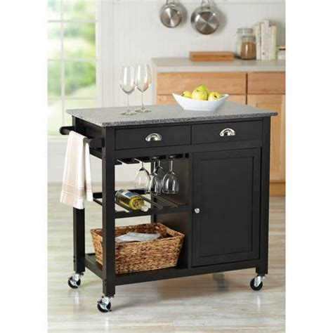 walmart kitchen islands better homes and gardens deluxe kitchen island black