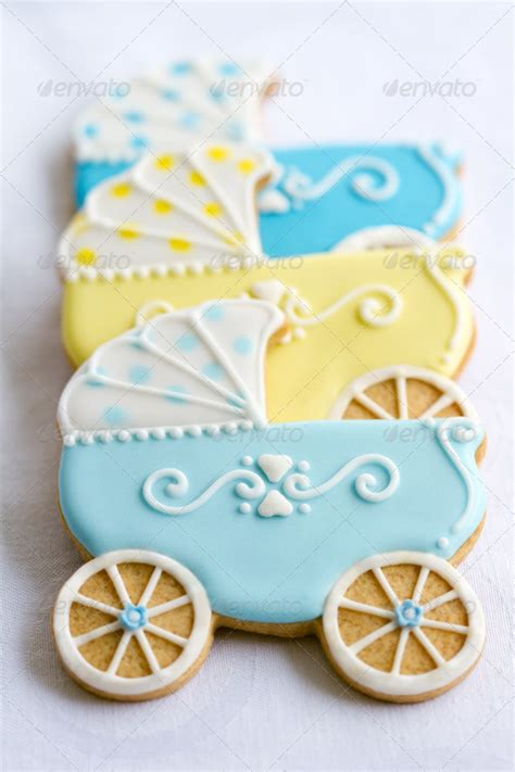 Cookie Baby Shower Decorations by Baby Shower Cookies Blue Yellow Baby Stroller Ideas