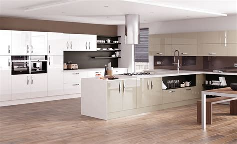 Contemporary White Kitchen Cabinets kitchen designs astro gloss dakar and white