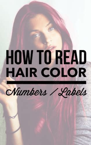 hair color numbers how to read hair color numbers labels holleewoodhair