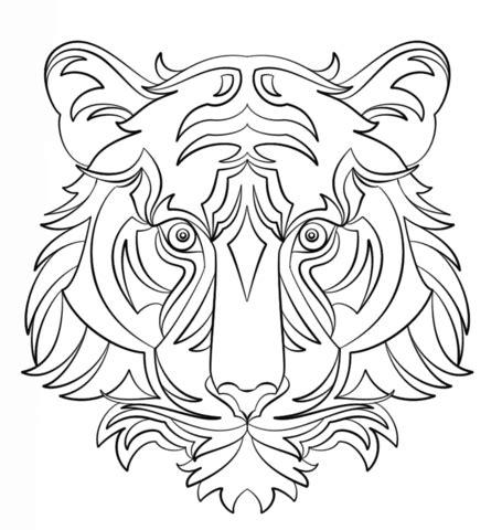 dibujos para colorear abstractos dibujo de tigre abstracto para colorear dibujos para