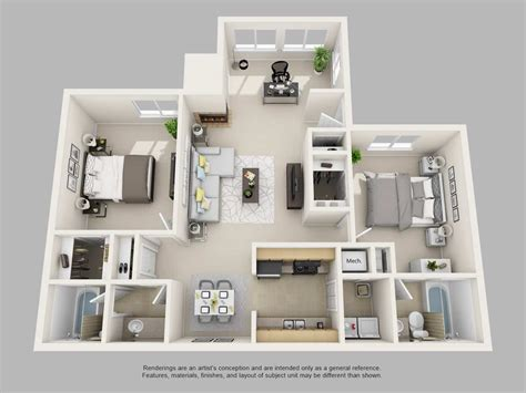 2 bedrooms 2 bathrooms park on clairmont apartments floor plans and models