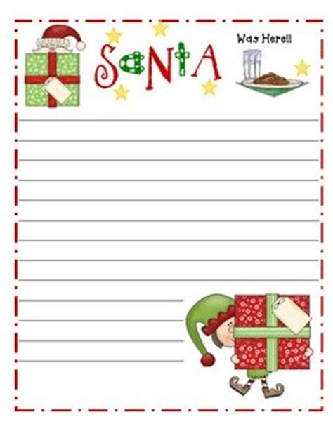 printable writing paper with christmas border pinterest the world s catalog of ideas