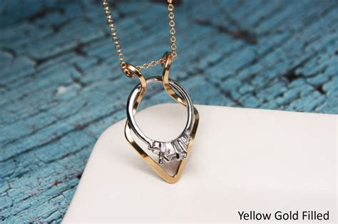 Diamond Ring Holder Necklace Wedding Ring Holder Necklace