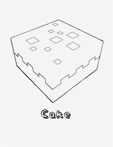 minecraft coloring pages cake 1237px