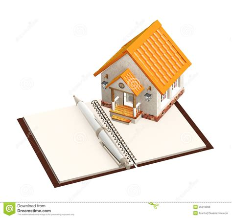 notebook house house and notebook royalty free stock photos image 25910908