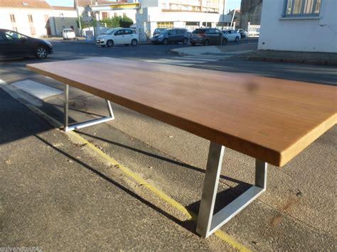grande table en fer et bois de 3 m trap 232 ze salle 224
