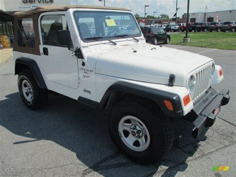 2001 white jeep wrangler sport 4x4 69727992 photo 7 gtcarlot car color galleries