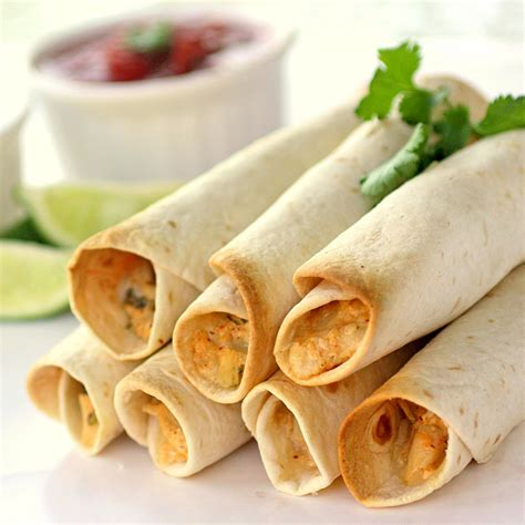 baked creamy chicken taquitos the girl who ate everything