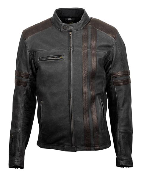 Leather Jaket Black Ariel scorpion 1909 leather jacket revzilla