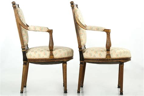 settees and armchairs french neoclassical salon suite with settee and pair of