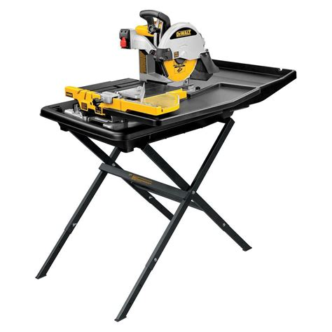tile bench saw dewalt 10 in wet tile saw with stand d24000s the home depot