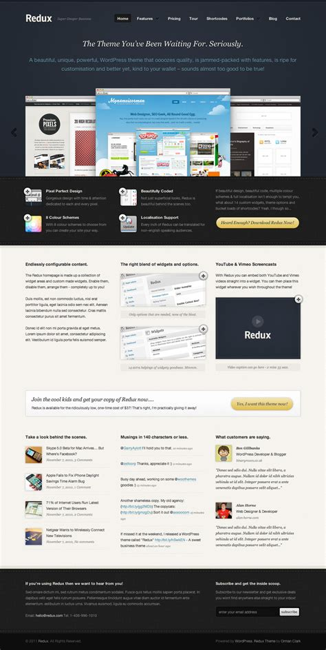 business web design homepage business website template design
