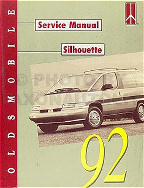 best auto repair manual 1992 oldsmobile achieva parking system 1992 oldsmobile silhouette van repair shop manual original