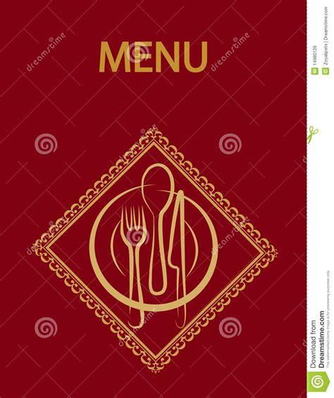 design background menu restaurant menu design with red background 2 stock vector