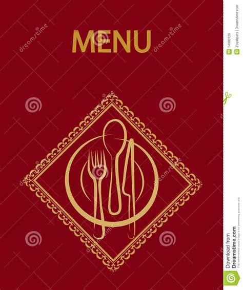 Restaurant Menu Design With Red Background 2 Stock Vector