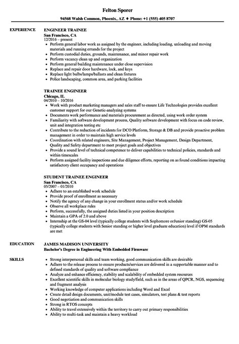 resume format for embedded engineers resume template