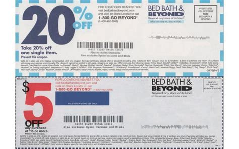 bed bath and beyond cbell bed bath and beyond coupons printable coupon and deals