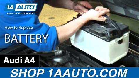Audi A4 Avant Batterie Ausbauen by How To Install Replace Battery 2005 08 Audi A4 Youtube