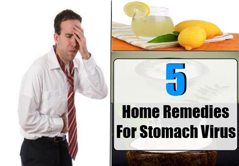 stomach virus home remedies treatments and cure