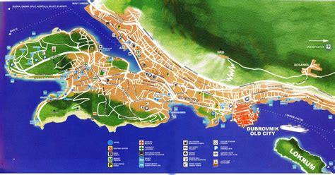 croatia map dubrovnik croatia detailed town city map free download
