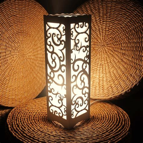 Decorative Table Lights Decorative Table L Vintage Wood Plastic Rustic Style