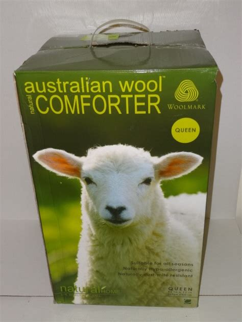New Woolmark Natural Home Australian Wool Comforter Queen