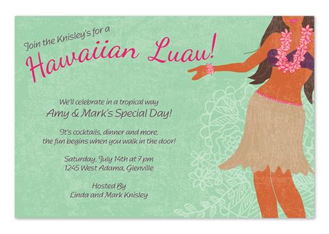 luau wedding invitations wording hawaiian luau invitations by invitation consultants ic rlp 762