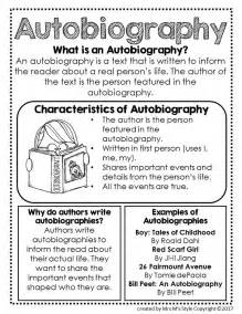 Autobiography Template For Middle School by Best 25 Autobiography Writing Ideas On
