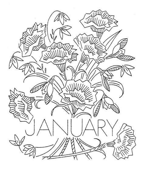 flowers of the month coloring pages 64 best images about embroidery flower of the month on