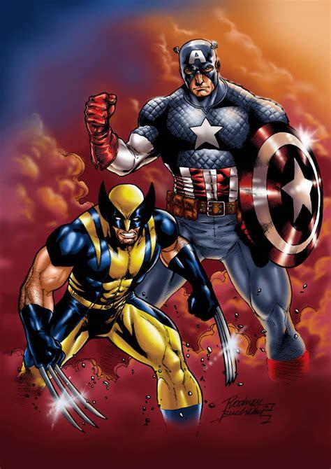 captain america vs wolverine wallpaper medusa vs captain america and wolverine battles comic vine