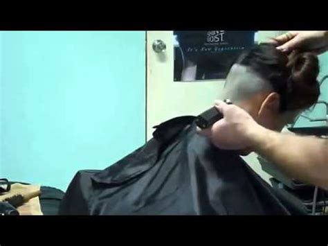 barber girl nape shave youtube video beautiful girl shave nape undercut and shave bald