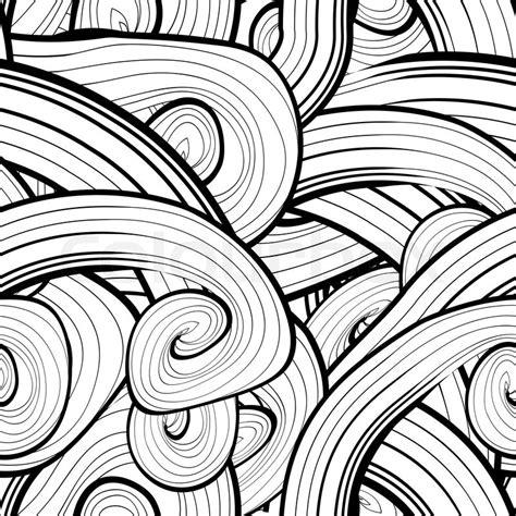 Muster Schwarz Weiß by Schwarz Wei 223 Muster Abstrakten Wellenmuster Vektor