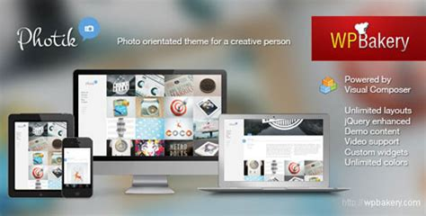 themeforest blog photik themeforest responsive portfolio blog wp theme