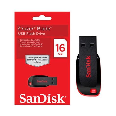Usb Flash Disk Sandisk 16gb Cruzer Blande Original memoria usb sandisk cruzer blade 16gb negro rojo la tienda de computaci 243 n m 225 s surtida de la