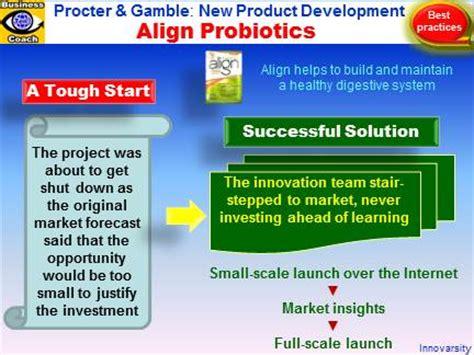 p g supplements new product development success stories align probiotic