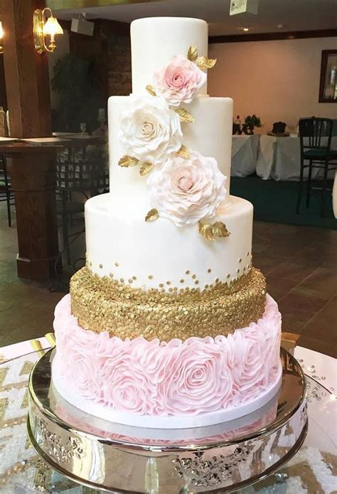search wedding cakes pink and gold wedding cake search bridal gowns