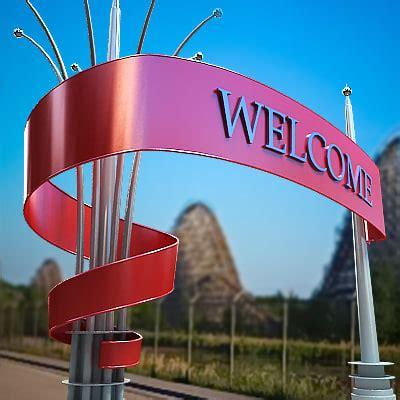 theme park entrance amusement park entrance 3d max