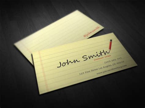 journalist business card template 50 free psd business card templates pixelsmarket