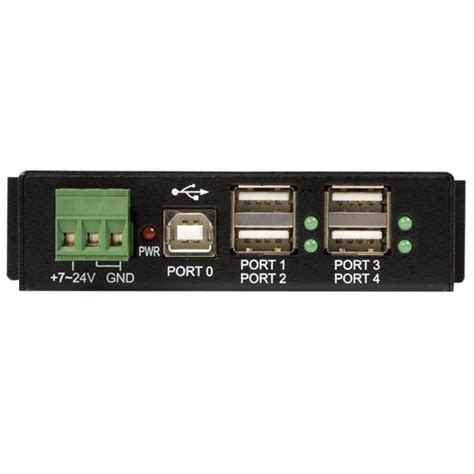Usb Hub 4 Cabang Simple mountable 4 port rugged usb hub usb2 hubs startech united kingdom