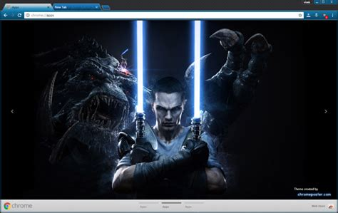 theme google chrome star wars star wars the force unleashed 2 chrome theme chromeposta