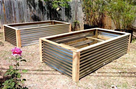Raised Vegetable Garden Beds Corrugated Iron Raised Vegetable Beds Contemporary Landscape